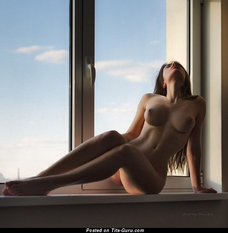 Image. Nude hot female with medium boob image