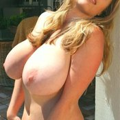 Beautiful girl with huge natural tits image