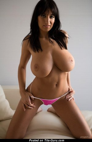 Jana Defi: naked brunette with huge breast picture