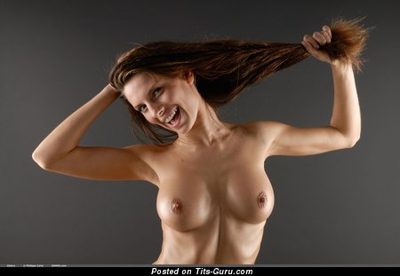 Image. Chiara - nude brunette with big natural boobies photo