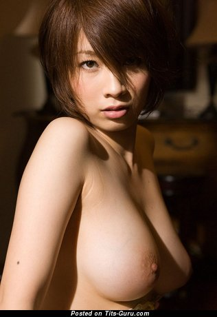 Saki Okuda - Charming Japanese Doxy with Charming Exposed Real Med Melons (Xxx Photo)