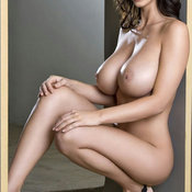 Brunette with big fake tittys pic