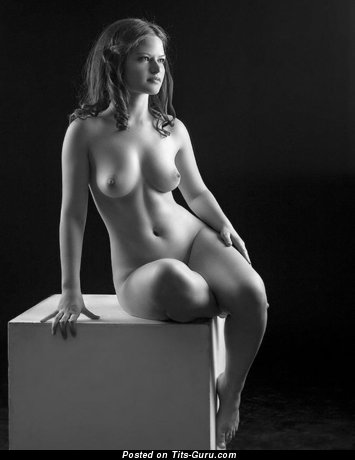 Image. Sexy naked nice woman with medium natural breast image