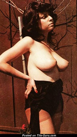 Debbie Golemis - Charming Babe with Charming Defenseless Natural Normal Titties (Vintage Porn Photo)
