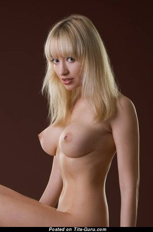 Perfect Blonde with Perfect Bald Soft Tits (Sexual Foto)