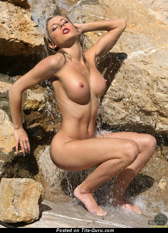 Marvelous Wet Blonde with Marvelous Open Med Tits (Sexual Photoshoot)