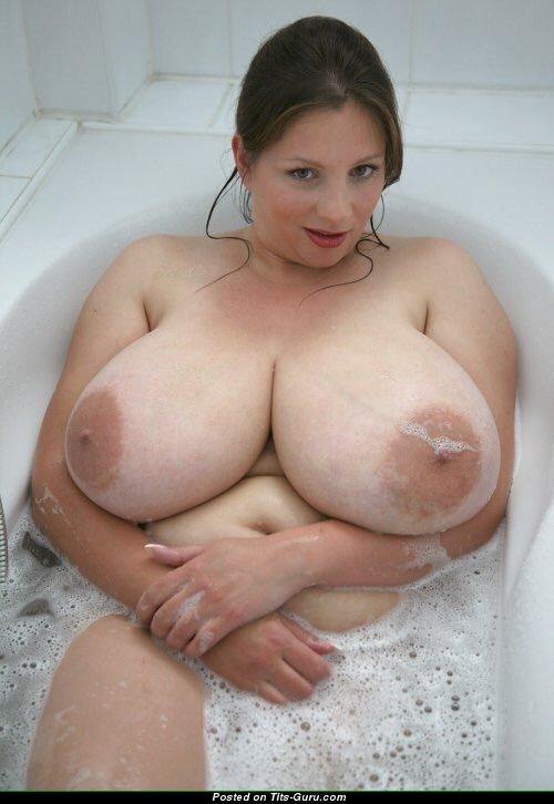 Nadine Jansen Naked Brunette With Huge Natural Boob Pic