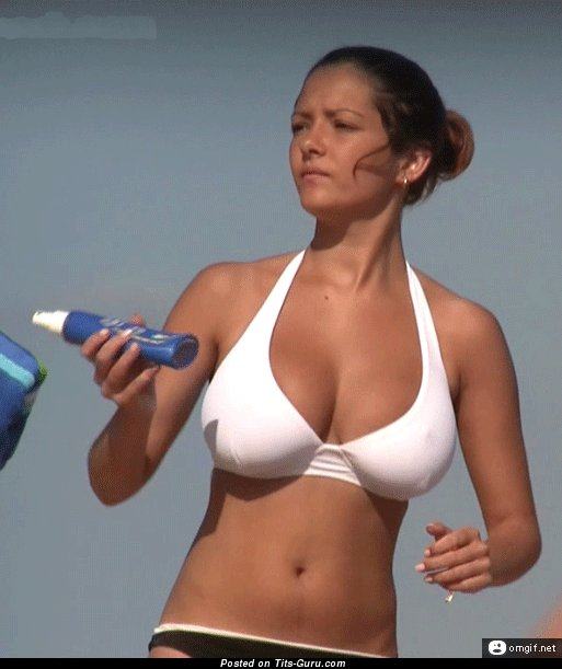 Image. Sexy amazing woman with huge natural breast gif