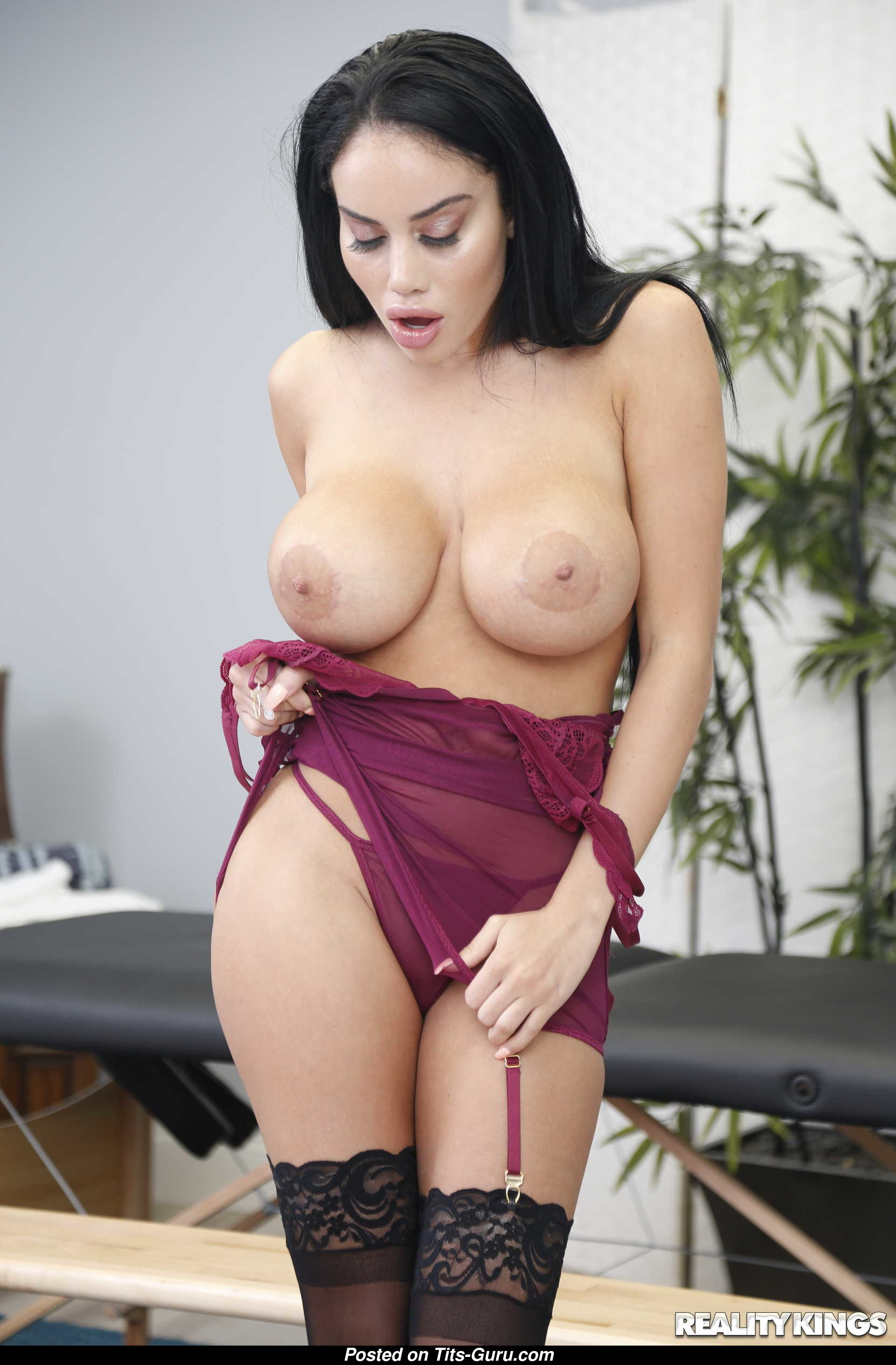 Shared office glamour brunette
