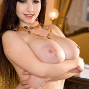 Beautiful woman with big natural boobs image