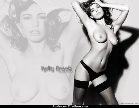 Image. Kelly Brook - nude red hair with medium natural tits image