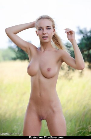 Image. Wonderful female with medium natural boob image