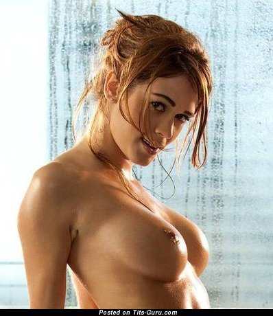 Magnificent Topless Brunette & Blonde with Magnificent Bare C Size Boob (18+ Wallpaper)