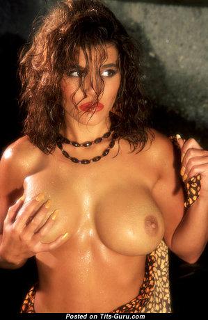Andrea Kurtz - Superb Wet & Topless American Blonde Pornstar & Girlfriend with Superb Open Medium Melons (18+ Image)