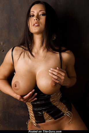 Nude asian with big boob image