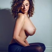 Sexy nude beautiful lady with big natural breast image