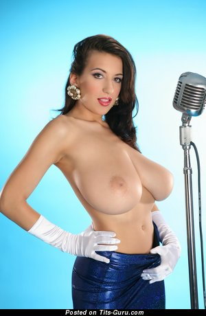 Image. Jana Defi Maria Swan - naked brunette with huge natural tittys photo