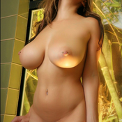 Hot lady with big breast and piercing image
