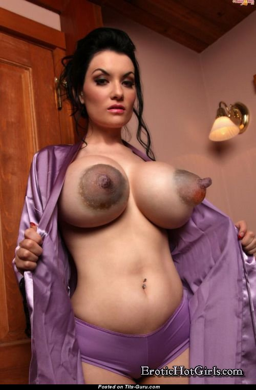 Nice Lady With Nice Bald Hefty Breasts  Giant Nipples Sex -7504