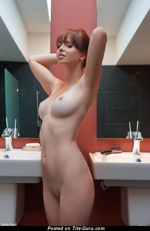 Image. Naked wonderful female with medium natural tits photo