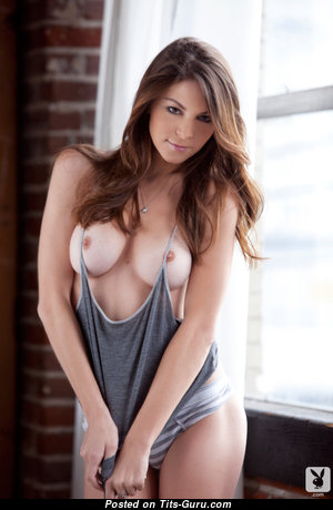 Amber Sym - Appealing American Playboy Red Hair with Appealing Defenseless Natural Knockers (18+ Image)
