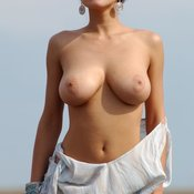 Hot woman with big natural tits pic
