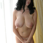 Hot female with huge natural tots photo