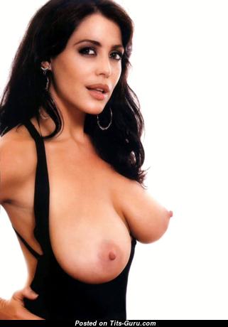Pamela David - Fine Topless Argentine Brunette (Hd Porn Photo)