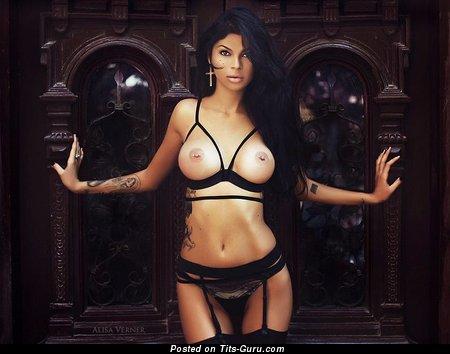 Ilona Bukovskaya - Beautiful Brunette with Beautiful Naked Sizable Tittys (Sex Wallpaper)