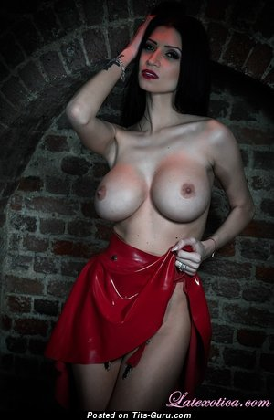 Lily Roma - Adorable British Brunette Babe with Adorable Naked Round Fake Medium Sized Titties (Sex Foto)