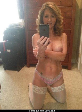 Image. Topless amateur wonderful lady with medium natural boob selfie
