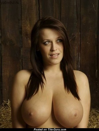 Nude amazing female with huge natural tits image