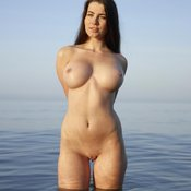 Wonderful female with big breast photo