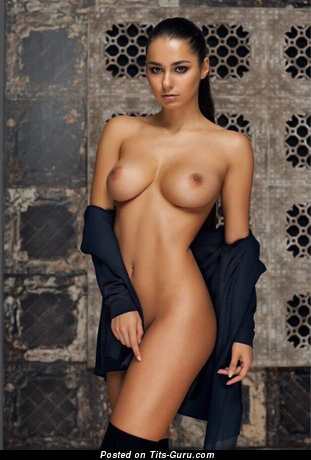 Image. Sexy naked beautiful girl with natural boobies image