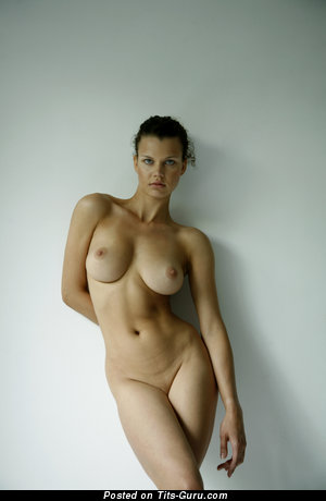 Image. Naked nice girl with natural breast image