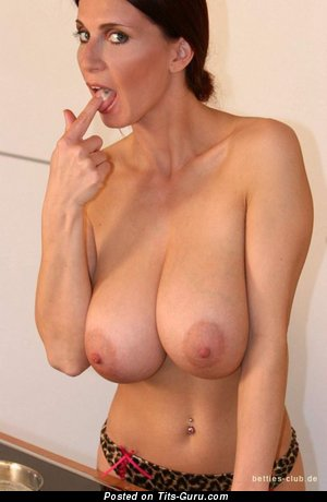 Nude hot female with huge natural breast picture