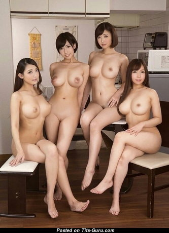 Nice Asian Babe with Nice Naked Real Med Breasts & Sexy Legs (Sexual Pix)