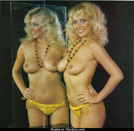 Debbie Linden: nude blonde with medium natural tittys vintage