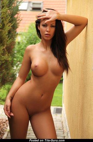 Vanessa Demolitions - Delightful Brunette Girlfriend & Babe with Delightful Naked Round Fake Boobie (Hd Sexual Pix)
