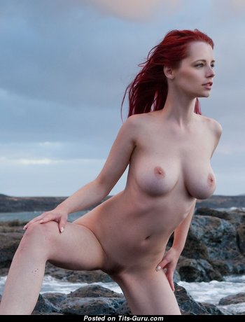 Ariel Piper Fawn - Marvelous Czech Red Hair Babe & Pornstar with Marvelous Nude Real Dd Size Tit & Large Nipples (Hd Sexual Photoshoot)
