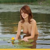 Nice female with medium natural breast picture