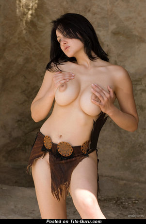 Dazzling Nude Brunette with Long Nipples (Hd 18+ Photo)