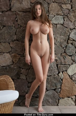 Image. Nude brunette with big tots photo