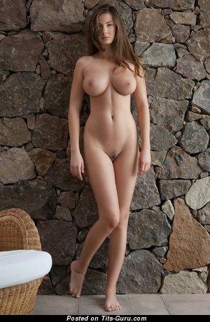 Elegant Brunette with Elegant Exposed Sizable Knockers (Hd Sex Image)