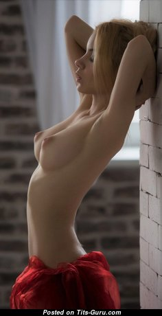 Elegant Topless & Glamour Blonde with Erect Nipples (Hd Porn Image)