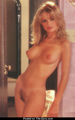 Cathy St George - Superb American Playboy Blonde Babe with Superb Bald Real Mid Size Tittys (Vintage Sex Pic)