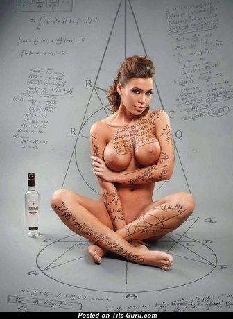 Wonderful Babe with Wonderful Exposed Fake Tittys (Xxx Wallpaper)