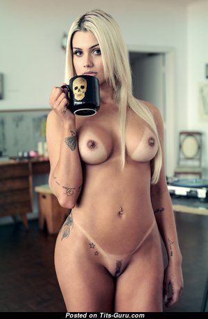 Janaina Santucci - Cute Undressed Blonde with Tan Lines & Tattoo (Hd Porn Picture)