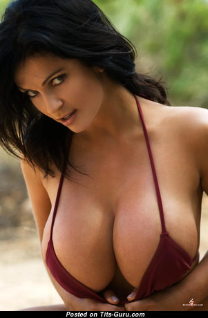 Denise Milani - Sexy Glamour Czech Brunette with Sexy Nude Ddd Size Balloons (Hd Porn Pix)