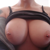 Wonderful female with big tits pic